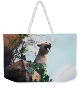 Mountain Lion - Paint Effect Weekender Tote Bag