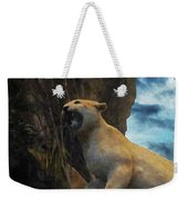 Mountain Lion - Paint Fx Weekender Tote Bag