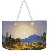 Mountain Meadow In Moonlight Weekender Tote Bag