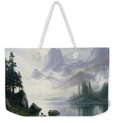 Mountain Out Of The Mist Weekender Tote Bag