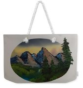 Mountain Oval Weekender Tote Bag