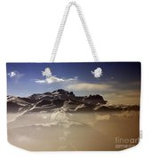 Mountain Panorama And Mist Les Gets Portes Du Soleil Morzine Haute Savoie France Weekender Tote Bag