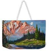 Mountain Peaks Weekender Tote Bag