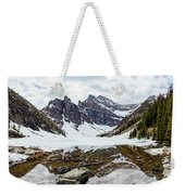 Mountain Picture Lake Agnes Weekender Tote Bag