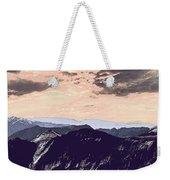 Mountain Range Weekender Tote Bag