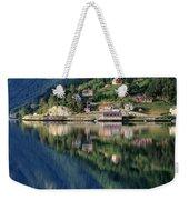 Mountain Reflected In Lake Weekender Tote Bag