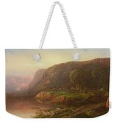 Mountain Scene On The Ohio River Weekender Tote Bag