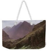Mountain Study Weekender Tote Bag by Alexandre Calame
