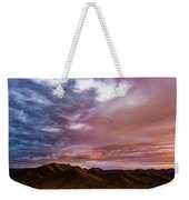 Mountain Sunset In New River Weekender Tote Bag