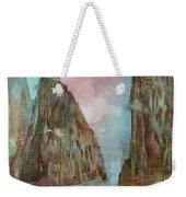 Mountain Temple Weekender Tote Bag