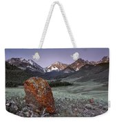 Mountain Textures And Light Weekender Tote Bag