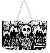 Mountain Town Skeleton Weekender Tote Bag