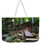 Mountain Trail With Staircase In Autumn Forest Weekender Tote Bag