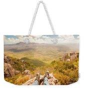 Mountain Valley Landscape Weekender Tote Bag