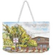 Mountain View Barbeque In Walker, California Weekender Tote Bag