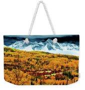 Mountain Village Autumn Weekender Tote Bag