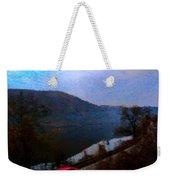 Mountain, Water And Road. Weekender Tote Bag