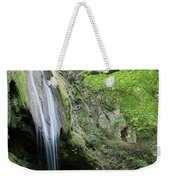 Mountain Waterfall Spring Nature Scene Weekender Tote Bag