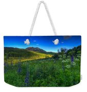 Mountain Wildflowers And Light Whispers Weekender Tote Bag