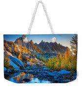 Mountainous Paradise Weekender Tote Bag