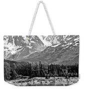 Mountains Alaska Bw Weekender Tote Bag