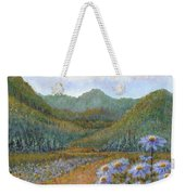 Mountains And Asters Weekender Tote Bag