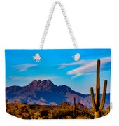 Mountains And Cactus Weekender Tote Bag