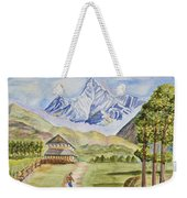 Mountains And Valley Weekender Tote Bag
