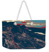 Mountains By Red Road Weekender Tote Bag