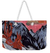 Mountains In Winter Weekender Tote Bag by Ernst Ludwig Kirchner