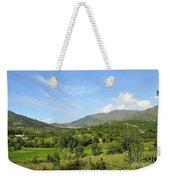 Mountains Sky And Homes In Village Of Swat Valley Khyber Pakhtoonkhwa Pakistan Weekender Tote Bag
