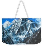 Mountains View Landscape Acrylic Painting Weekender Tote Bag