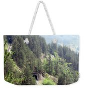 Mountains With Railroad And Tunnels  Weekender Tote Bag