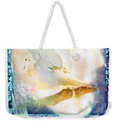 Mourning Dove About To Land On Tree Branch Weekender Tote Bag