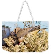 Mourning Dove And Chick Weekender Tote Bag