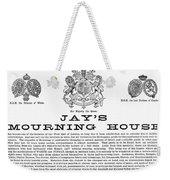 Mourning House, 1891 Weekender Tote Bag