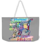 Mouse And Cat Friend Weekender Tote Bag