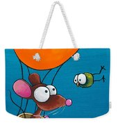 Mouse In His Hot Air Balloon Weekender Tote Bag