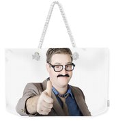 Movember Man Proud Of His Moustache Weekender Tote Bag