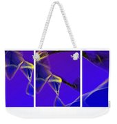 Movement In Blue Weekender Tote Bag