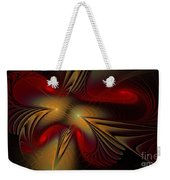 Movement Of Red And Gold Weekender Tote Bag