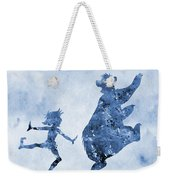 Mowgli And Baloo-blue Weekender Tote Bag