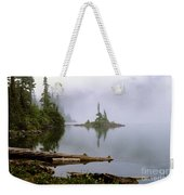 Mowich Lake In Fog  Weekender Tote Bag