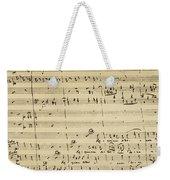 Mozart: Requiem Excerpt Weekender Tote Bag