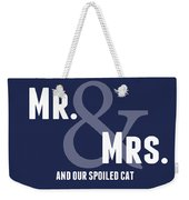 Mr And Mrs And Cat Weekender Tote Bag