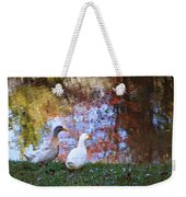 Mr And Mrs Duck Weekender Tote Bag