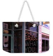 Mr. Photographer Photograph What You Love  Weekender Tote Bag