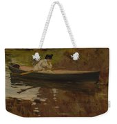 Mrs. Chase In Prospect Park , William Merritt Chase Weekender Tote Bag