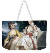Mrs Thrale And Her Daughter Hester Weekender Tote Bag