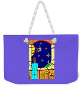 Ms Cleo On A Balcony In Paradise Weekender Tote Bag